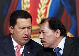 Ortega samen met Chavez